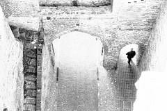 Archway (No_Mosquito) Tags: archway monochrome bw street urban historic italia bricks cobblestones stairs canon powershot g7xmarkii europe walking man architecture cittadella