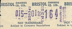 Bristol Omnibus Co. Ltd. Bus Ticket (Ray's Photo Collection) Tags: scan scanned document bristol omnibus co ltd bus travel buses ticket