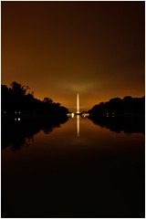 Washington Monument 02 (❡ ♻ ₭) Tags: washington monument architecture nightphotography handheld nikond7000 tokina1116mm usa reflection