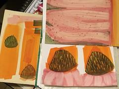 Echinacea purpurea (basswulf) Tags: ipadpro unmodified 43 image:ratio=43 permissions:licence=c 20170810 201708 4032x3024 watercolour painting echinacea echinaceapurpurea coneflower orange pink purple abstract
