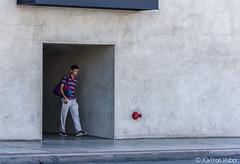 The Exit (www.karltonhuberphotography.com) Tags: 2017 aged architecturaldetails buildingside citystreets cracks cube dude exiting framed industrial karltonhuber man oldbuilding santaana sidewalk southerncalifornia sterile streetphotography streetscene urban walking