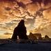 Sunset on Ruby Beach, Washington State