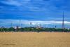 A view from the Marina Beach. (crmdanielroy) Tags: tamilnadu tamil india southindia chennai madras marina beach sky bluesky chepauk stadium cityscape danielroyphotography triplicane