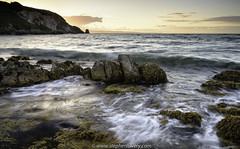 Portmuck (Stephen_Lavery) Tags: countyantrim islandmagee northernireland portmuck shore sunset waves