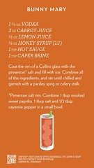 Bunny Mary, check out more cocktails at http://ift.tt/2dslAbC (cocktailflashcards) Tags: highball cocktail bunny mary vodka carrot juice lemon honey syrup hot sauce caper brine