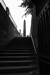 Steps to the graves (louys:) Tags: monochrome blackandwhite fuji xt2 xf14mmf28r oldcaltongraveyard silhouette steps stair graveyard primelens wideangle