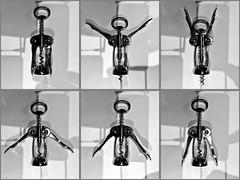 Wine Aerobics (@WineAlchemy1) Tags: corkscrew wine getfit exercise blackandwhite collage aerobics fitness rhythm uncork choreography sequence humour noiretblanc monochrome blackwhite neroebianco gymnastics