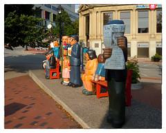 People Waiting (Timothy Valentine) Tags: sculpture publicart vacation bench wood johnhooper saintjohn newbrunswick canada ca