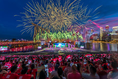 Fireworks National Day Parade 2017 (BP Chua) Tags: ndp2017 onenationtogether sg52 singapore bluehour fireworks colours people parade nationalday asia landscape nikon d800e wideangle bulb red marinabay marinabaysingapore marinabaysg city cityscape