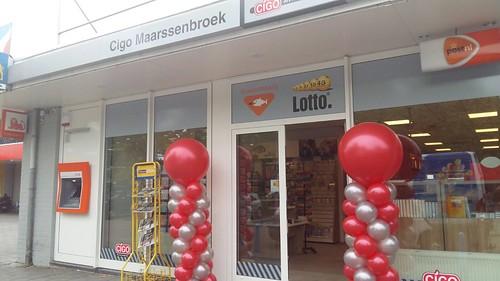 Ballonpilaar Breed Rond Cigo Maarssenbroek