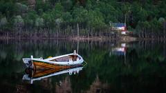 The boat (Reidar Trekkvold) Tags: 2017 boat båt fujifilm harstad landscape natur nature nordnorge norway outdoor reflection speiling spring summer troms vann vår water xt20 xf55200ois