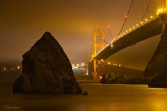 Golden Fog (Omnitrigger) Tags: bridge goldengate goldengatebridge sanfrancisco bayarea fog sharkfin longexpo goldenwater pacificocean