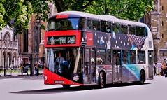 TFL Routemaster. LTZ1100 (standhisround) Tags: vehicle bus routemaster transportforlondon tfl westminster london england uk ltz1100 westminstersquare londontransport advert