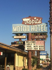 TROPICS MOTOR HOTEL INDIO CA. (ussiwojima) Tags: tropicsmotorhotel hotel motel indio california neon advertising sign