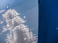 blue grid (szélléva) Tags: architecture architectural blue abstract tokyo nippon reflection japan