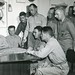 Major General Cates with War Correspondents Aboard Ship, February 1945