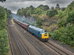 40145 (Geoff Griffiths Doncaster) Tags: 40145 scarborough spa express 345 d345 norbury wakefield 1z25 cfps
