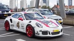 Porsche 911 GT3 RS (R. Engelsman) Tags: porsche911gt3rs porsche 911 gt3 gt3rs racecar car vehicle automotive sportscar erasmusbrug erasmusbridge rotterdam 010 netherlands nederland nl