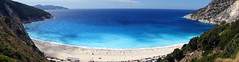 Marvelous Myrtos (Mark BJ) Tags: kefalonia greece ionianisland myrtos beach marble cliffs blue turquoise sea κεφαλλονιά cephalonia pylaros windingroad shoreline waves whitepebbles trees bushes cars bestgreekbeach voted verdanthills semicircular spectacular popular captaincorelli'smandolin bombaysapphire gorgeous greek island