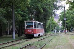 2017-06-28, Kryvyi Rih, Vul. Vitchyzny (Fototak) Tags: tram strassenbahn kryvyirih ukraine ktm5 ligne7 456