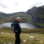 Me above Loch a' Mhadaidh, with Sgurr Mor behind thumbnail