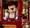 Mickey Mouse in Red Trolley (M424Photography) Tags: disney disneyland california adventure outdoor outdoors daylight day daytime golden hour morning evening natural light mickey mouse red trolley buena vista street