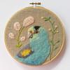 Golden Shouldered Parrot (Wattletree Crafts / Cat Gabriel Art) Tags: needlefelted felting embroidery parrot bird hoopart