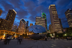 The Bean - EXPLORED (Aug 27th, 2017) (JD~PHOTOGRAPHY) Tags: chicago chicagoskyline skyline city buidlings milleniumpark thebean art architecture citylandscape bluehour longexposure citylights canon canon6d
