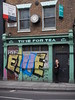 No time for tea (C_Oliver) Tags: england london e1 shoreditch hoxton 110shoreditchhighstreet shoreditchhighstreet timefortea shop store graffiti streetart clock estateagent fyfemcdade sign signs bricks brickwork building architecture clockface