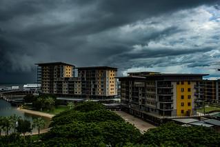 Upcomming Storm over Darwin Waterfront Precinct