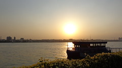 Sunset on the Nile (Rckr88) Tags: maadi cairo egypt africa travel travelling sunset nile sunsetonthenile sunlight sun sky water wave waves river rivers nileriver thenileriver nilesunset boat boats felucca maadiisland islands island