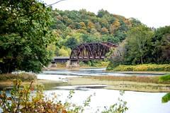 Iron Bridge. Parker, PA (bobchesarek) Tags: ironbridge parker river biketrail forest fall railroad hike trestle tracks rails