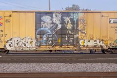 Arsn Swek (Psychedelic Wardad) Tags: freight graffiti dirty30 d30 dck sws swek circlet itd arsn