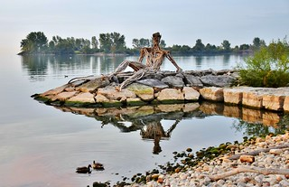 Sunbathing Figure, Humber Bay Park East, Etobicoke, Toronto, ON