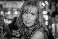 """#177 """"Petra, what the hell are you doing on this planet?"""" (Hendrik Lohmann) Tags: portraits people series project whatthehell blackandwhiteportrait hendriklohmann nikondf"""