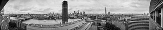 Panoramic View From the Top Floor Of The Tate Modern - London, E