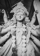 Durga Idol (pritam.nandy) Tags: durga goddess god chittagong idol festival festive celebrating celebration celebrate blackandwhite puja nikon photography photo photographer photos pic picture pics mother power hinduism hindu soil architecture