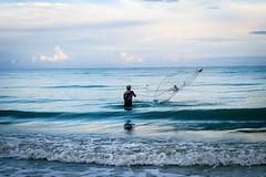 Lucky Fish (agruebl) Tags: luckyfish fish sea shore fishing fishingnet waves water gulfofmexico florida summer beach usa fuji fujixpro2 xpro2
