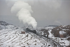 2017/1/1 JS8190 Sandaoling (Pocahontas®) Tags: steam engine locomotive loco railway railroad train rail js8190 sandaoling frozen kodak ektar100 135film