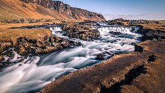 Foss waterfall - Iceland - Landscape photography (Giuseppe Milo (www.pixael.com)) Tags: photo iceland landscape waterfall travel nature photography outdoor water europe geotagged clouds southernregion is onsale