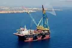 SAIPEM 7000 offshore Marsaxlokk Harbour, Malta - 15.09.2017 - www.maltashipphotos.com (Malta Ship Photos & Action Photos) Tags: sea malta ship offshore marsaxlokk crane vessel saipem spa italian bhs flag aerial world second largest