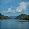 Rat Branch (Steve4343) Tags: nikon d70s lake watauga lakewatagua blue sky clouds appalachian trail white puffy green trees theunforgettablepictures steve4343