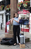 Flautist Chester UK DSC02051cr (rowchester) Tags: flautist flute music musician player street musical instrument woodwind town shop cross sandstone