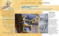 27-le centaure1 (olivierblaz) Tags: symbolisme sculpture romane art roman auvergne péchés capitaux vices vertus croyant église abbatiale cloître chapiteau chapiteaux colonne pierre monstres chimères