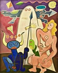 Untitled (1970) - Gonçalo Duarte (1935 - 1986) (pedrosimoes7) Tags: gonçaloduarte kwyartistgroupparis centrodeartemanueldebrito camb paláciodosanjos algés portugal color colour couleur coulors artgalleryandmuseums