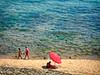 Marinella di Selinunte (robertar.) Tags: sicilia ombrellone rosso azzurro trasparenze