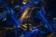 The Spark (R)evolution (Waving lights in the dark) Tags: spark fire rotation dark afterdark night blue backlit backlight silhouette revolution evolution plan nightphotography shotinoneexposure abstract sonyzeiss derbyshire padley padleygorge