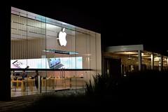 Closing Time (l i v e l t r a) Tags: df f14 nikkor applestore outdoor night dark closing gate shopping