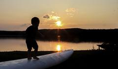Chasing the Sunset (Danny VB) Tags: board sunset gaspé canon silhouette gaspesie quebec summer été canada boy haldimand beach mountains 7d sigma 30mm14