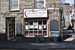 Cardigan Cafe - July 2017 - Free Sausages (Gareth1953 All Right Now) Tags: cardigan town cafe ceredigion street furniture blackboard signs wales cymru dogfriendly